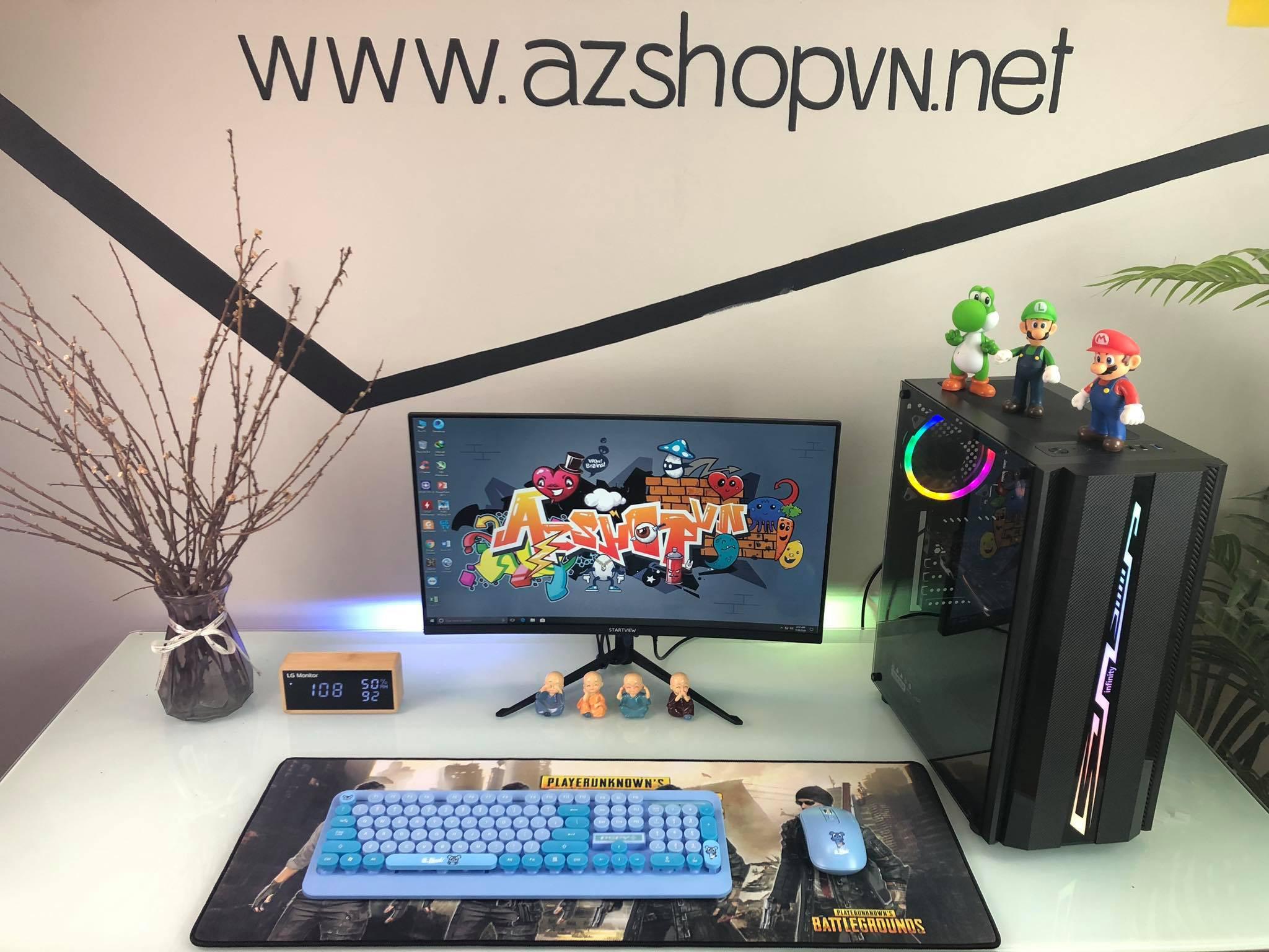 Case AZGAMER H310 & i3 9100f 750Ti 2GB New LCD 27 inch New